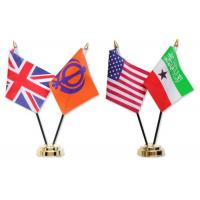 China National Miniature Table Flags BSCI Certification , Desktop American Flag With Stand on sale