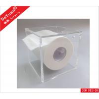 Quality Square Magnetic Tissue Acrylic Holder Stand Wall Mounted For Toilet for sale