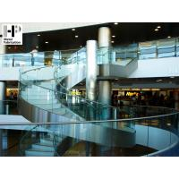 Stainless steel staircase curved staircase glass railing curved stairs Manufactures