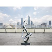Curve Stainless Steel Abstract Sculpture Custom Size Landscape As Office Patio Decor Manufactures