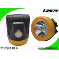3.8Ah Battery Hard Hat Headlamp , Rechargeable Miners Headlamp Waterproof IP68 Manufactures