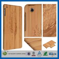 China Cherry Christmas Tree Natural Bamboo Wood Cell Phone Cases Skin For Ipad Air Mini Retina on sale