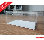 Clear Rectangle Acrylic Fish Tank / Lucite Mini Fish Tank Laser Printing
