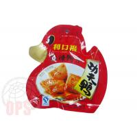Die Cut Irregular Shaped Plastic Snack Food Grade Packaging Bags With Spout Manufactures