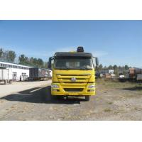 8 - 12 Ton Crane Truck , 6x4 ZF Steering Cargo Truck With Crane HW76 Lengthened Cabin Manufactures