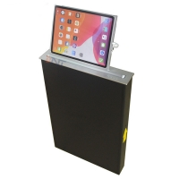 China Hidden desk mounted aluminum alloy motorized lcd monitor lift for tablet PC on sale