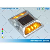 Aluminum Road Stud Reflectors IP68 Solar Powered Active LED Marker Light Manufactures