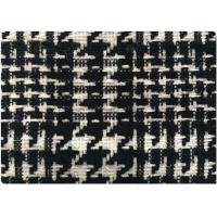 "Black And White Houndstooth Tweed Fabric , 59"" Cashmere Wool Blend Fabric In Stock Manufactures"