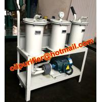 Buy cheap Portable oil Filter Machine, Small Oil Purifier skid, precision filter impurity, remove particulates from wholesalers
