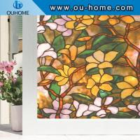 H837 Static Cling Stained Glass Window Film window decoration Manufactures