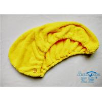 Yellow / Red Microfibre Hair Turban Towel Wrap Super Absorbent , Quick Dry Towel