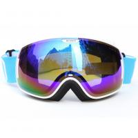 Quality Custom Adult Sport Blue Polarized Snow Goggles For Mountaineering Protective Eyewear for sale