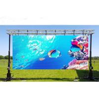 Quality P10 High Brightness 1/2 Scan LED Rental Screen IP65 Heat Dissipation LED Movable Video Wall for sale