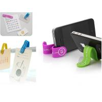 Hot sale Logo printed magnet silicone smart phone stand M-Clip Manufactures