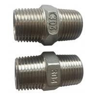 """4"""" Stainless Steel Pipe Fitting , Hexagon Nippl BSPT  NPT JIS Thread Manufactures"""