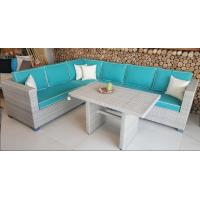 Outdoor Rattan Corner Sofa Set L Shape Cushion Covered In Aluminium Frame Nice Price