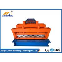 Quality Orange color steel glazed tile roll forming machine PLC control automatic made in china long time service for sale