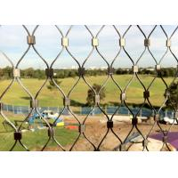 Diamond Shape Stainless Steel Wire Rope Mesh Net For Animal Cages / Bird Netting Manufactures