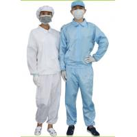 ESD Cleanroom Consumables / Cleanroom Coverall White & Blue Color Optional Manufactures
