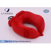 U Shape Memory Foam Pillows / Multifunctional U shape Neck Pillow With Pouch Manufactures
