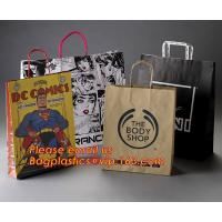 Luxury matte black shopping paper bag with logo UV for clothing packaging Manufactures