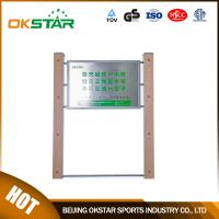 China outdoor exercise equipment WPC materials based sign board-LK-G01 on sale