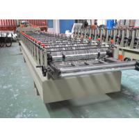Color Glazed Tile Making Machine , Steel Tile Roll Forming Machine With Press Mould Manufactures