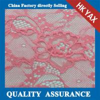 2014 china factory cheap hot selling beautiful pink elastic lace fabric/stretch lace fabric in little flower pattern Manufactures