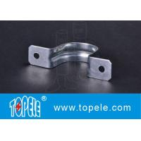 "Two Hole Strap EMT Conduit And Fittings Pre - Galvanized 1/2"" To 4"" Size Manufactures"