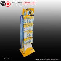 Corrugated paper full color printing floor display stand with hooks for pens Manufactures