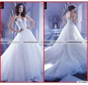 China MS-002 Spaghetti Strap wedding dress beading sweetheart a line Wedding Dresses China on sale