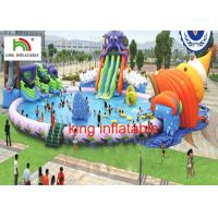 30M diameter Water Park With 3 Awesome Inflatable Water Slides And Other Water Games Manufactures