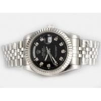 Quality Rolex Day-Date Automatic Diamond brand watch Marking With Black Dial original box Manufactures