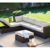 Sectional hotel outdoor use big lots furniture large modular rattan simple sofa lounge outside chair bed set Manufactures