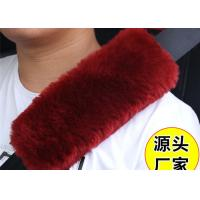 Warm Soft Washable Sheepskin Seat Belt Strap Covers For Car / Truck / Auto Manufactures