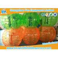 Quality Full Color PVC Inflatable Bubble Ball Football For For Humans Game for sale