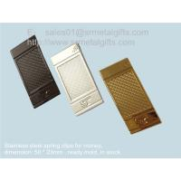 China Wire spring metal clip for money and paper, wire spring steel money clips, on sale