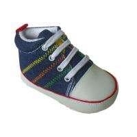 China 0-2years yellow ,red blue and pink fabric lace shoe on sale
