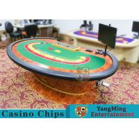 Multi-functional Macau Galaxy Luxury Poker Table With Three Printed Table Cloths Manufactures