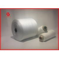 Paper Cone Polyester Raw White Yarn For Sewing Eco - Friendly Great Strength Manufactures