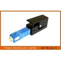 China Square Fiber Optic Adapter SC SM / MM Simplex Blue Black Fiber Optic Coupler on sale