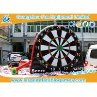 China Attrative Design Commercial Giant Inflatable Sport Games , Double Sides Inflatable Soccer Darts Board on sale