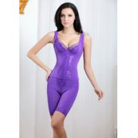 Fresh ! Pure Color Spandex Nylon Body Shaping Underwear with Sleeveless and High Waist Two-piece Set TZ18 Manufactures