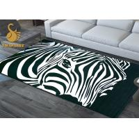 Microfiber Polyester Bed Sitting Room / Bedroom Area Rugs Custom Easy Cleaning Manufactures