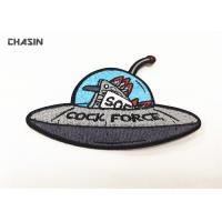 UFO Clothing Embroidery Patches Custom Embroidered Velcro Patches Manufactures