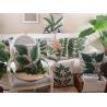 Buy cheap Green leaf print cushion,palm tree print cushion,tropical rainforest custom from wholesalers