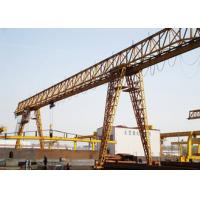 Mobile Single Beam Gantry Crane 20 Ton Electric With Cabin Remote Control Manufactures