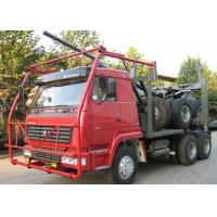 High Performance Timber Truck , 12.00R20 Tire 50 Ton Heavylog Truck Trailer Manufactures