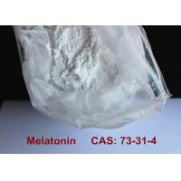 Safest Pharmaceutical Raw Materials Melatonin Powder Improving Sleep / Preventing Aging Manufactures