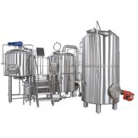 50-5000L Clean And Polish 2 Vessel Brewhouse Brewing Equipment Steel True Color Manufactures